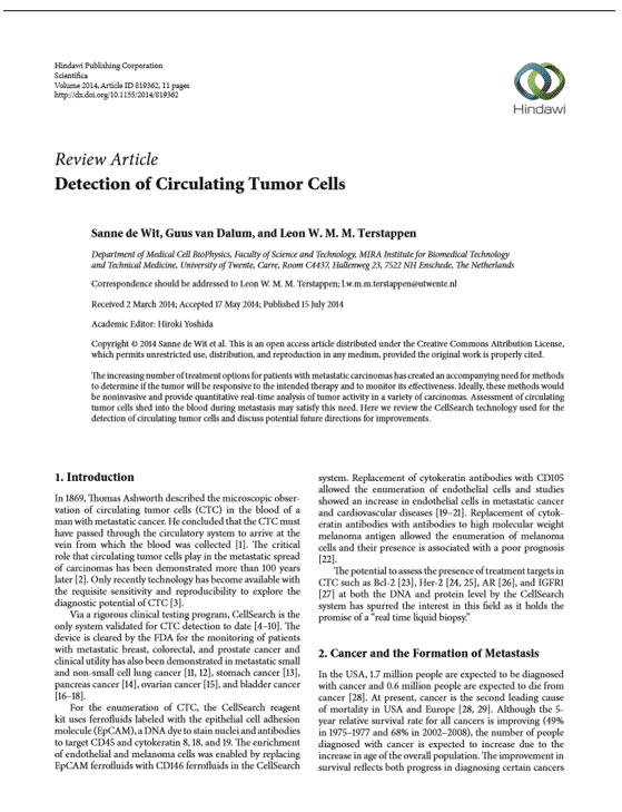 Detection of Circulating Tumor Cells