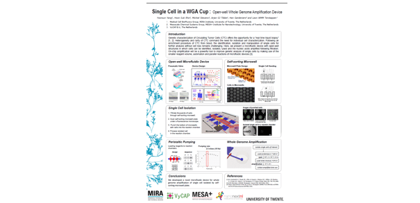 Single cell in a WGA cup: Open-well whole genome amplification device